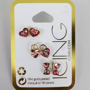 🆕18kt gold plated confetti stud earrings